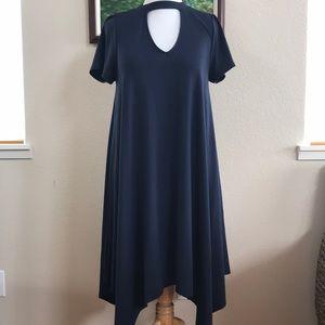 Torrid navy blue short sleeve dress